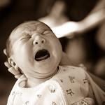 Untröstlich schreiendes Baby