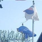 [시사] LA하늘에 찢어진 태극기 날린 코트라(KOTRA) LA 무역관.