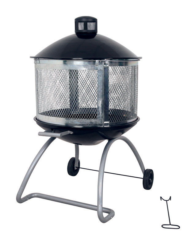 Living Accents Wood Fire Pit 28 in. W Porcelain/Steel ... on Ace Hardware Fire Pit  id=19841