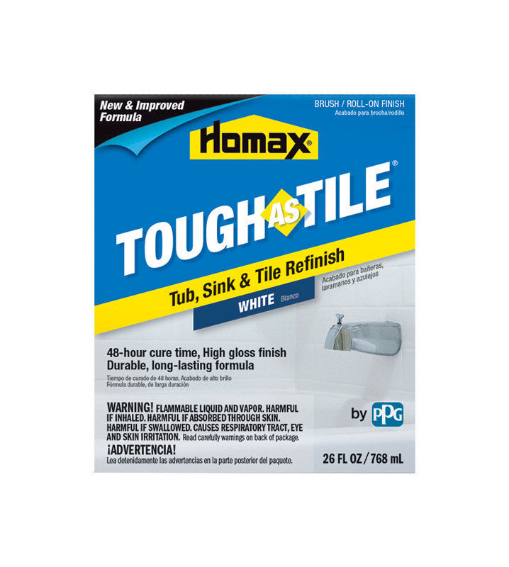 homax tough as tile gloss white tub and tile refinishing kit indoor 26 oz