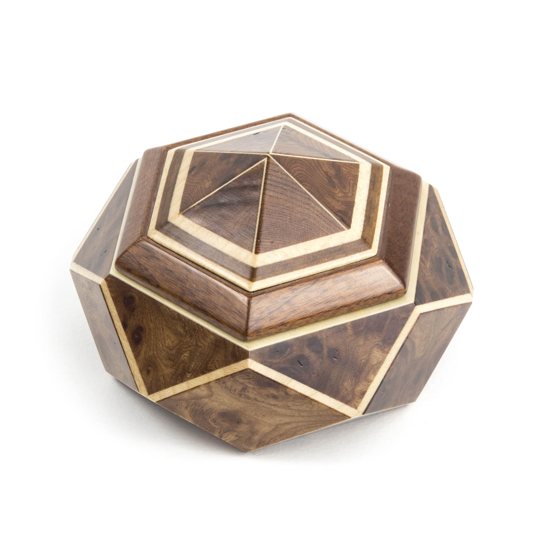 Diamond Shape Wooden Box