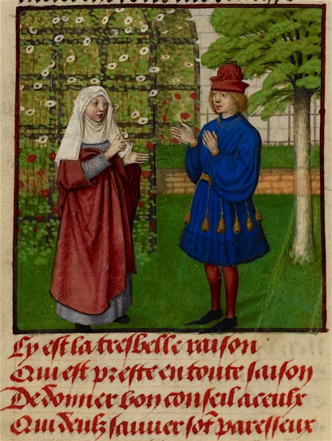 Guillaume de Lorris, 1220, and Jean de Meun, 1269-1278, Roman de la Rose.