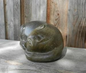Katze aus Serpentin