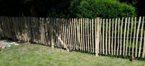 akátový plot vypnutý