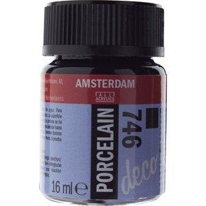 Amsterdam Deco Porselein Zwart Dekkend 16 ML Kleur 746
