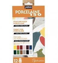 Porseleinverf Pebeo Porcelaine Glossy Explorer Set 12 x 20 ml., Glossy Kleuren