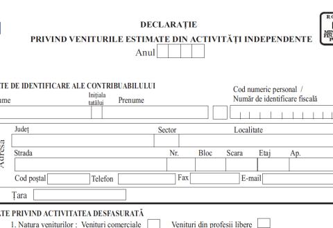 Termenul de depunere a formularului 221 a fost stabilit pentru 27 mai 2013