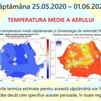 Prognoza meteo Romania 25 Mai - 22 Iunie 2020 Romania #primăvara ANM