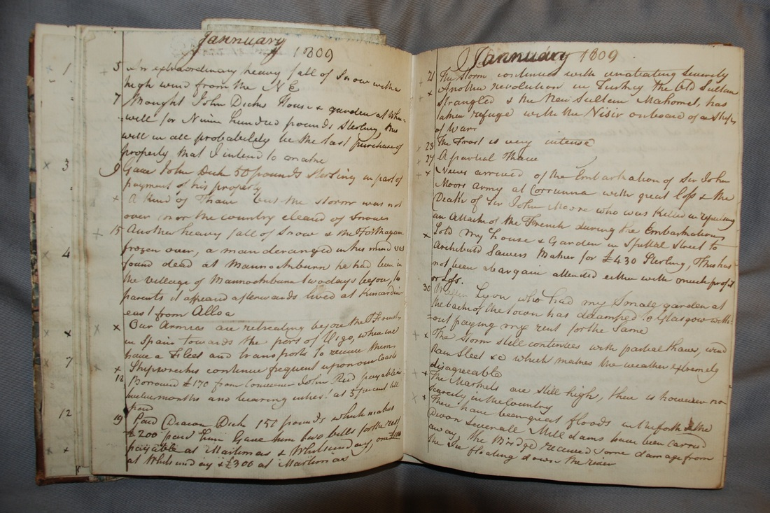 Diary entries for 5th – 30th January 1809, Dr Thomas Lucas of Stirling