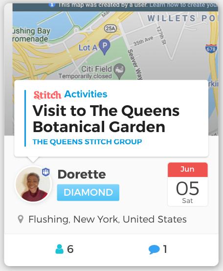 Stitch member Dorette's event in Queens, NY