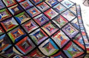 Phyllis' String Quilt from a Madge Ziegler class