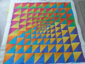 Ellen's Quilt - uses two ombre fabrics!!