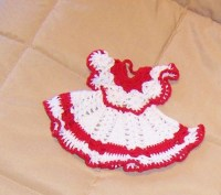 Potholder Set Crocheted Doll Clothes Vintage Handmade Doily Fancy Work