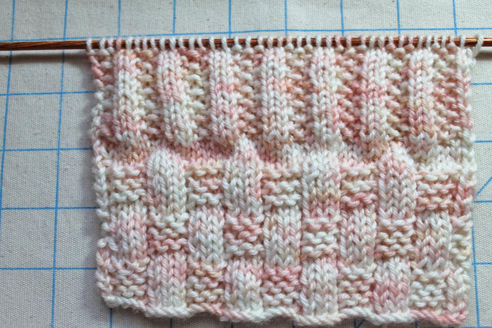 Knitting stitch swatch