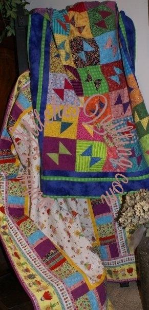 Butterfly Flip Quilt Kit Bright Fabrics