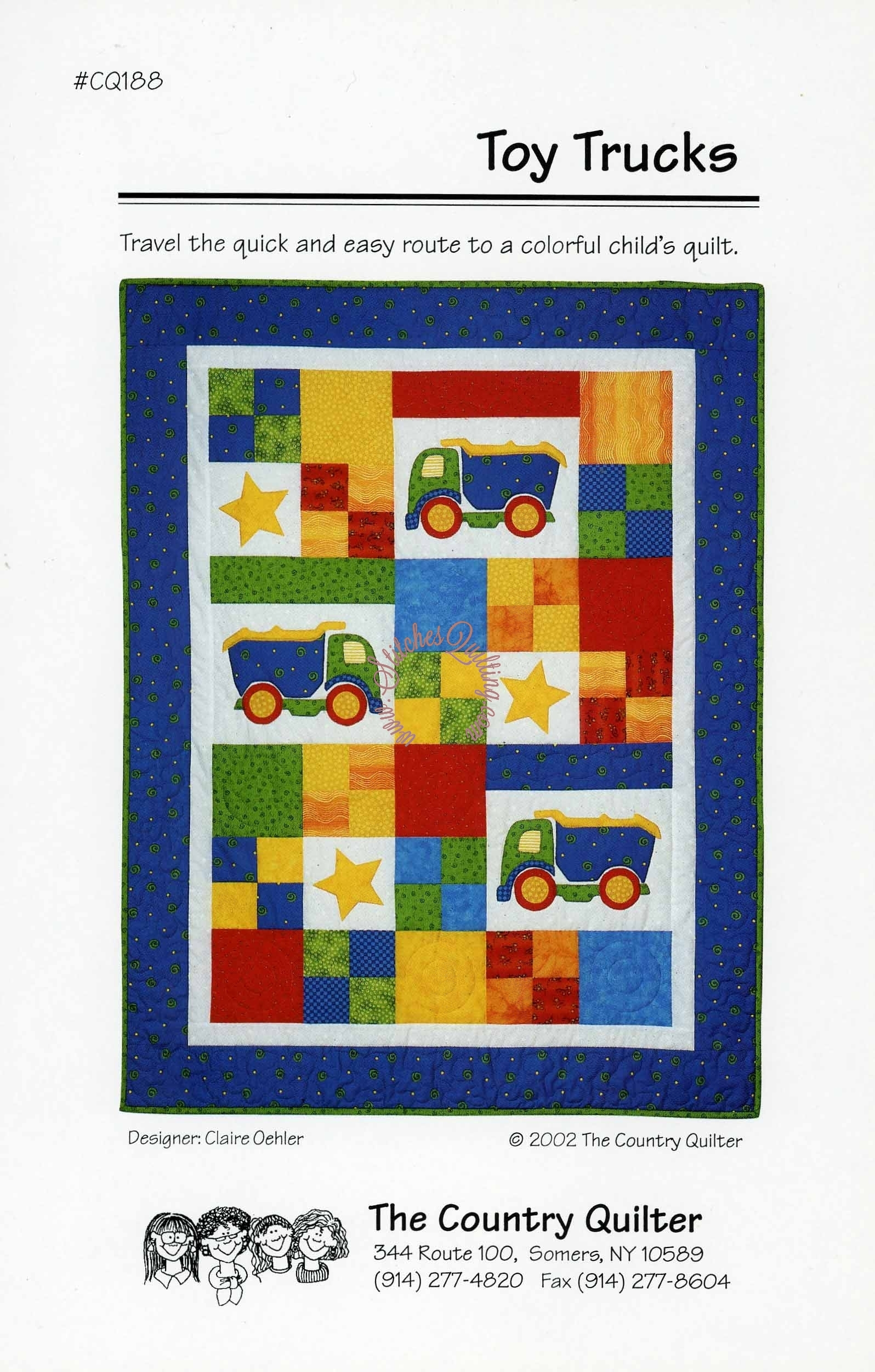 Toy Trucks Quilt Pattern The Country Quilter Stitches