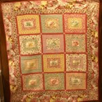 RARE Royal Doulton Tea Cup Quilt Kit available online at Stitches Quilting. Pattern designed by Deanna at Stitches Quilting. Tea Cup fabric squares from Woodrow Studios.