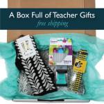 Box full of Designer Product Teacher Gifts