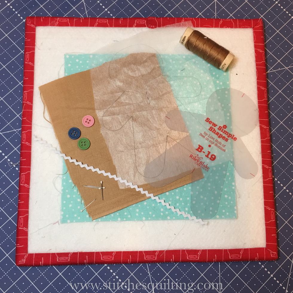 Supplies Needed for the Cozy Christmas Gingerbread Man Block