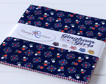 Gingham Girls 10 Inch Stacker 42 pieces by Amy Smart Penny Rose Fabrics