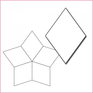 Paper Piecing Templates | Sue Daley Designs Five Star Paper Piecing Template Stitches Quilting