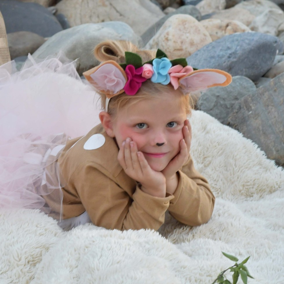 Easy Quick DIY Fawn Costume Pottery Barn Hack
