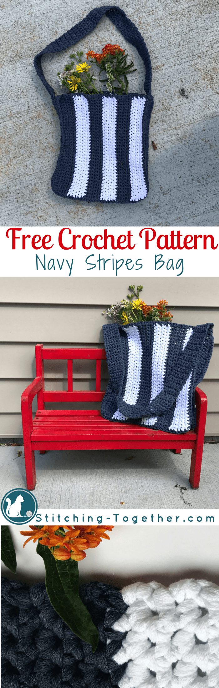 Make this easy crochet bag using the free pattern. Its a great bag for beginners. Free crochet pattern.