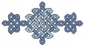 Delft Blue Knotwork free cross stitch pattern
