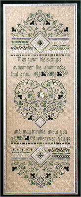 Irish Blessing Cross Stitch Sampler