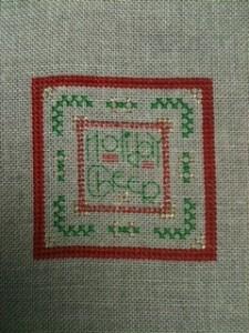 Laurels Holiday Cheer Cross Stitch Ornament