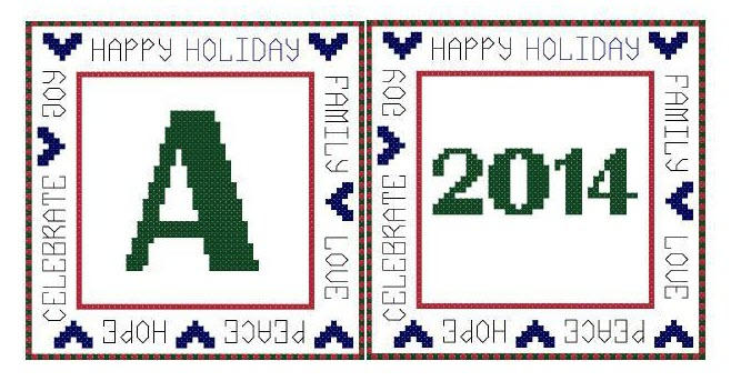 Monogram and Year Cross Stitch Ornament Patterns