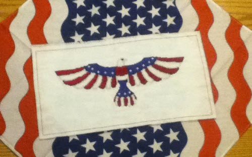 Independence Eagle stitched by Denise S