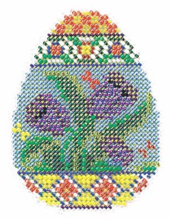 Mill Hill Spring Egg Tulip cross stitch kit