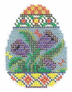 Mill Hill Spring Egg Tulip cross stitch kit