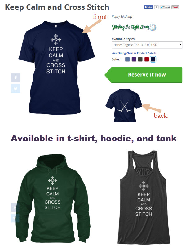 keep calm and cross stitch shirt