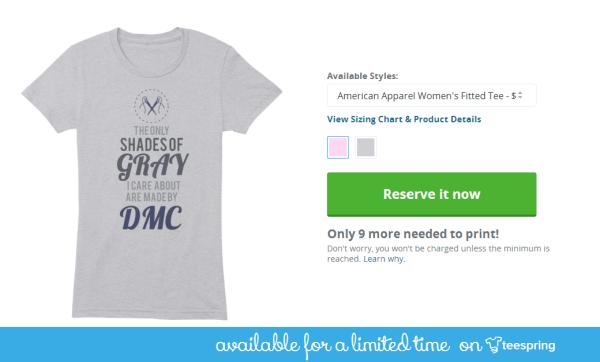shades of gray DMC shirt design