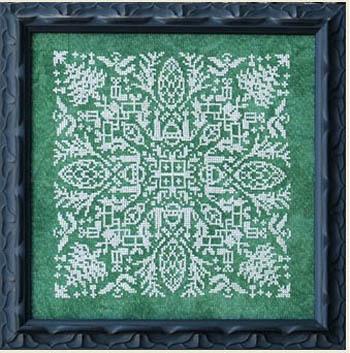 holly jolly mandala ink circles cross stitch pattern