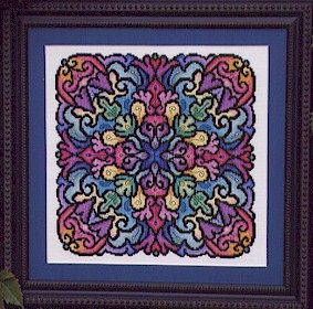 Kaleidoscope mandala cross stitch from Ink Circles