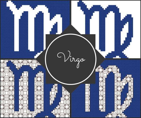 Virgo Zodiac Cross Stitch and Blackwork Patterns