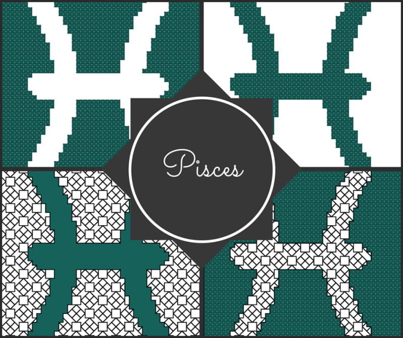 Pisces Zodiac Blocks