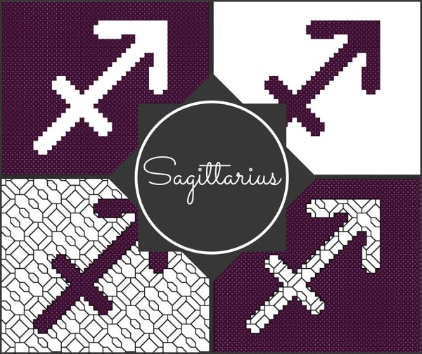 Sagittarius Cross Stitch Pattern Preview