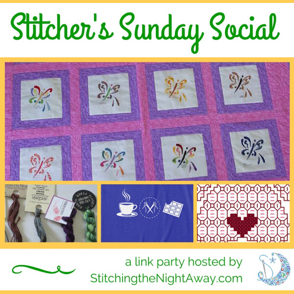 Stitchers Sunday Social - a link party hosted by Stitching the Night Away