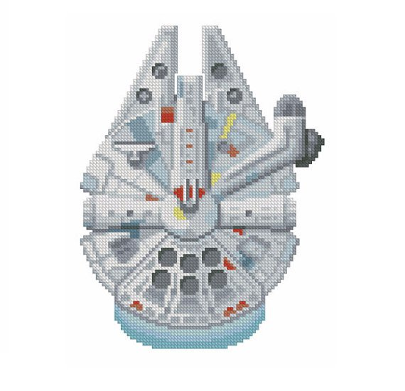 Star Wars cross stitch pattern Millennium Falcon by VallesMarineris