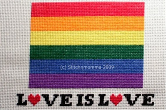 Love is Love cross stitch pattern from Stitchnmomma