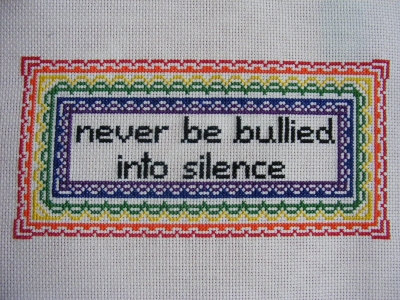 NEVER BE BULLIED INTO SILENCE cross stitch pattern from hardcorestitchcorps on Etsy