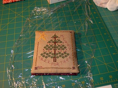 cross stitch ornament finishing step nineteen