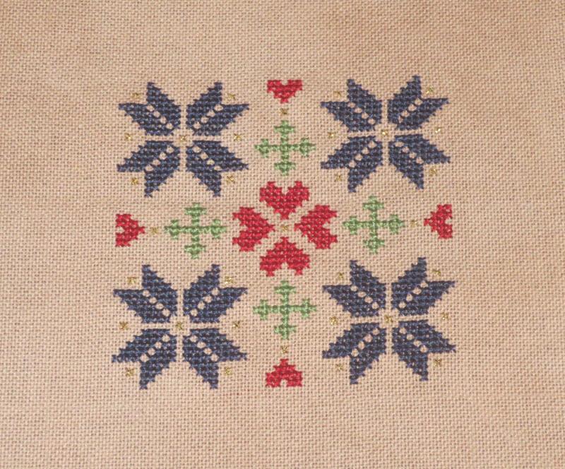Quakerish Quilt Inspired Ornament