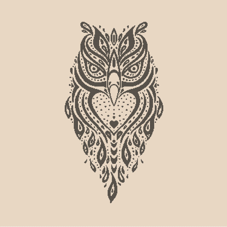 Spirit Owl Cross Stitch Pattern Preview