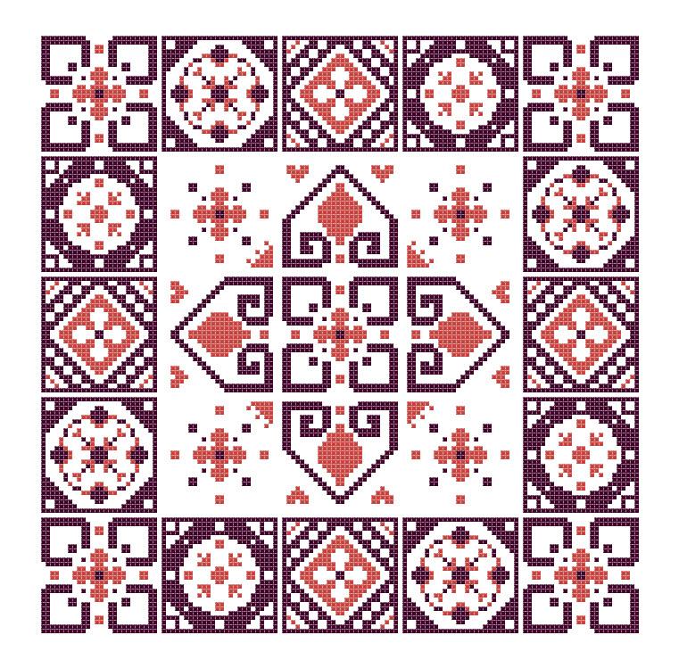Miss G's Garden Cross Stitch Pattern