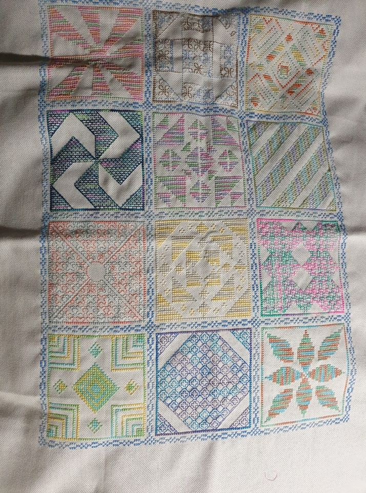 Stitching the Night Away 2019 Stitchalong project as stitched by Julie Cockerton